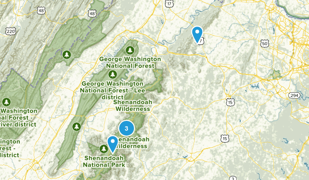 Shenandoah National Park Map