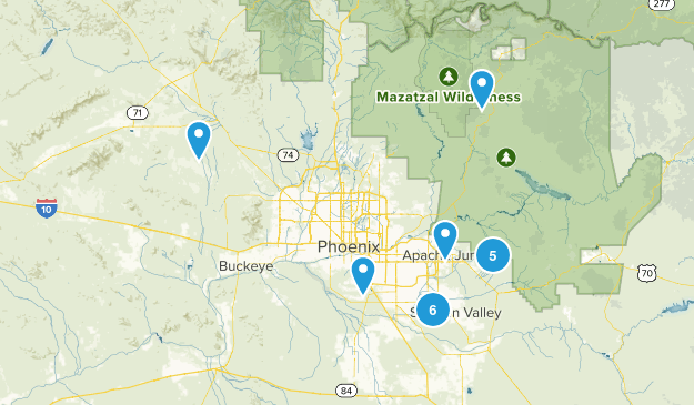 Phoenix To Do Trails Map
