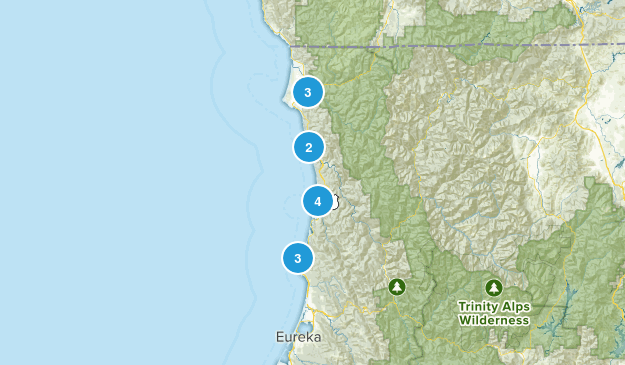 Redwoods hikes Map
