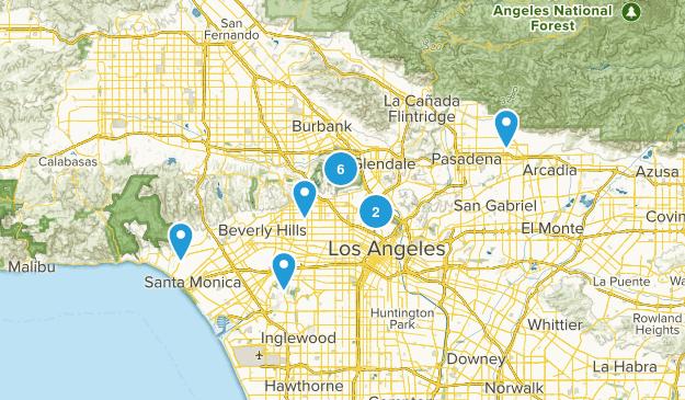 LA Trails I've Done Map