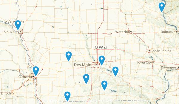 Long Iowa Trails Map