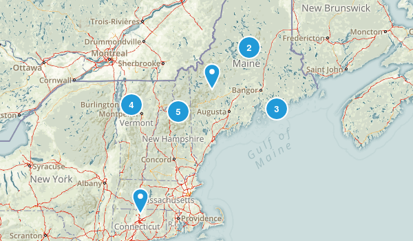 Maine VT NH Map
