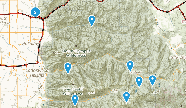 2 or less mile hike Map