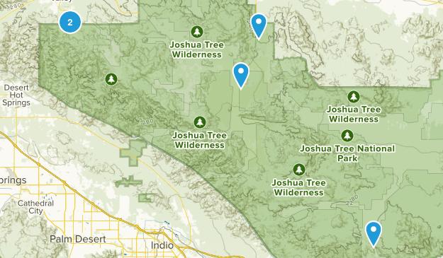 Joshua Tree Hikes Map
