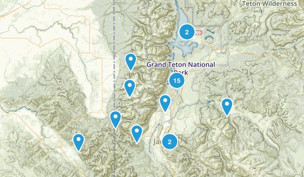 Grand Teton National Park, WY Map