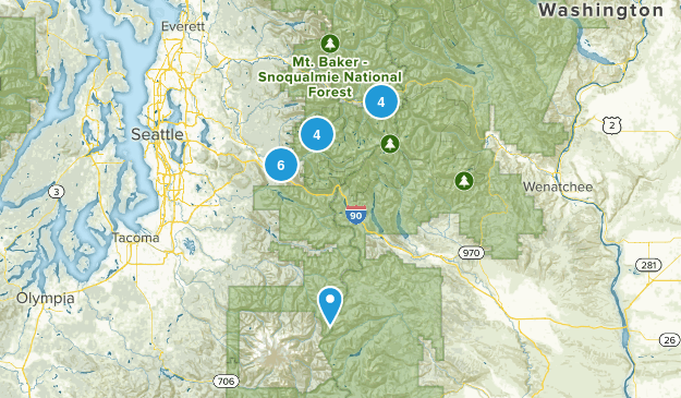 Mt. Baker National Forest, WA Map