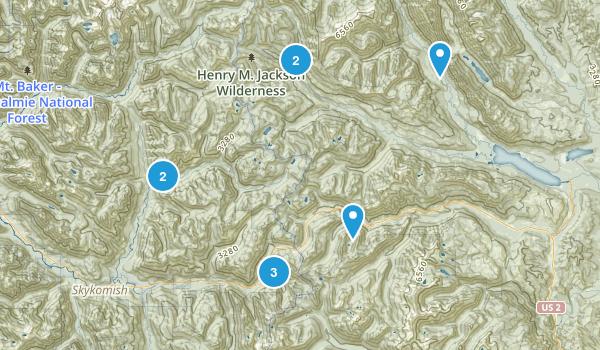 Wenatchee National Forest, WA Map