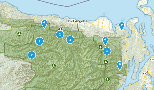Olympic National Park, WA Map