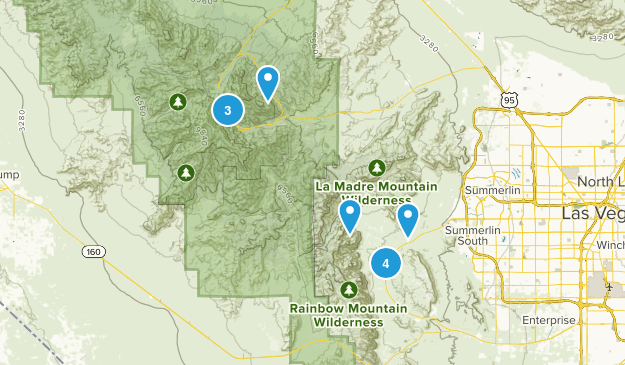Red Rock Canyon National Conservation, NV Map