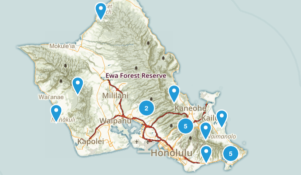 Completed Hikes Map