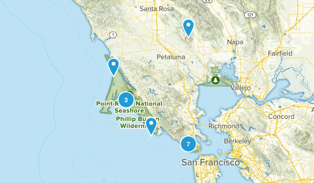 Point Reyes National Seashore, CA Map