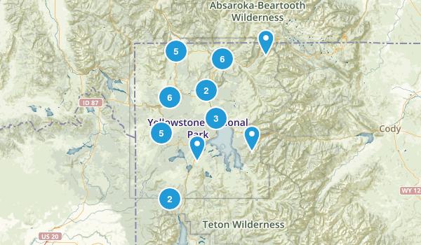 Yellowstone trip Map