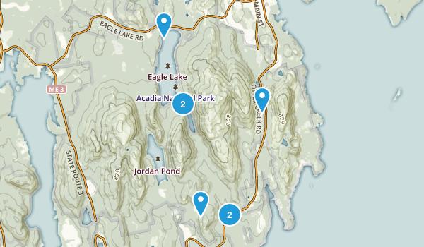 May 21 Acadia loop Map