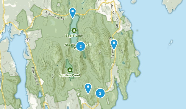 May 21 Acadia loop Map