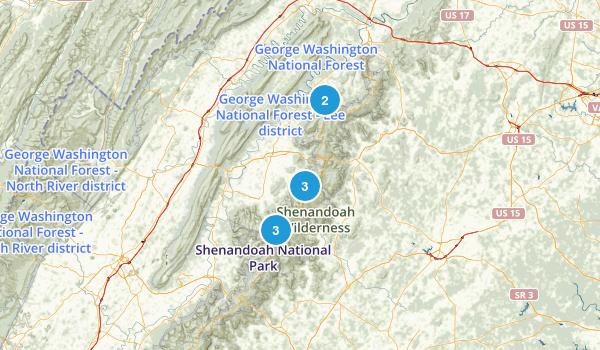 Shenandoah Trails Map