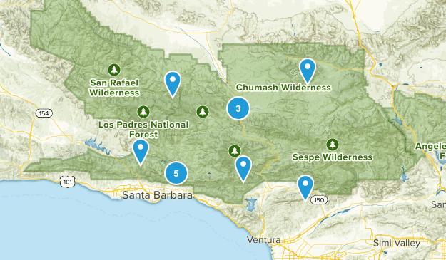 Los Padres Map