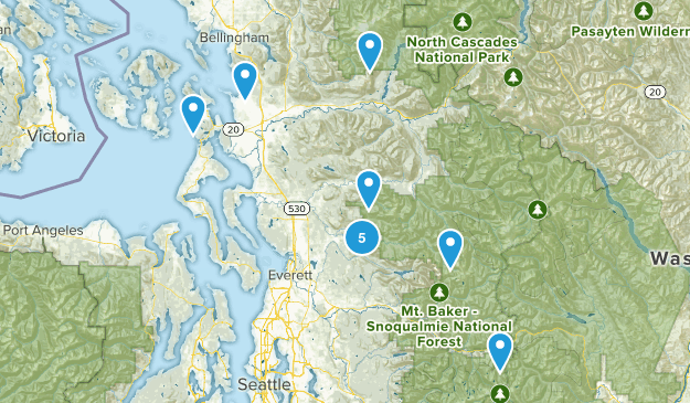 hikes completed Map