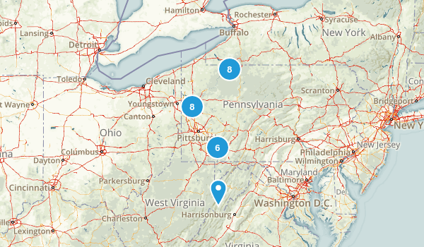 Pennsylvania Hiking Trails Map