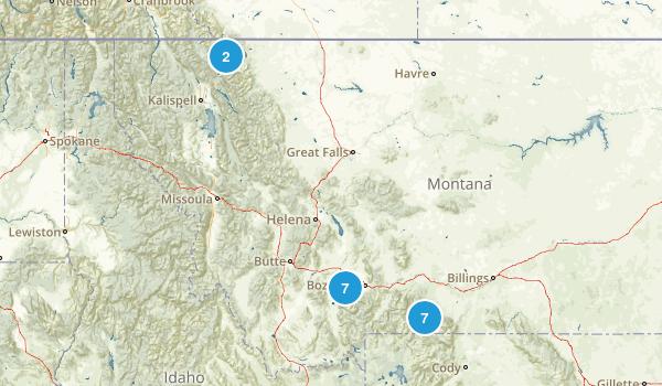 Montana Hikes Map