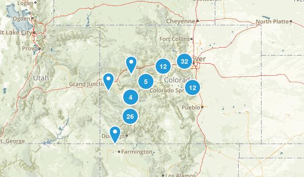 Colorful Colorado Map
