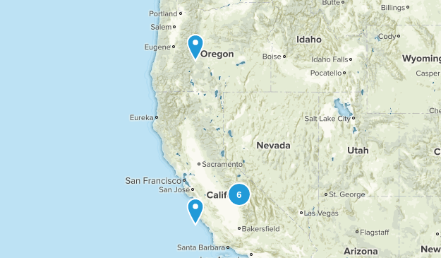 Short Backpacking Trips Map
