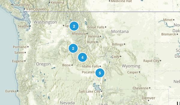 Idaho Hikes Map