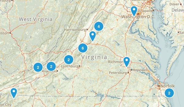 Hiking List Map