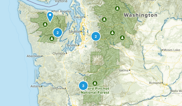 PNW Hikes Map