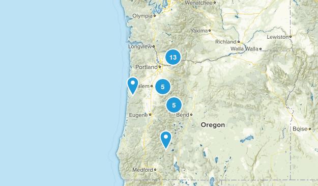 Oregon Hikes Map