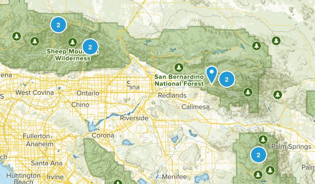 CA peaks Map