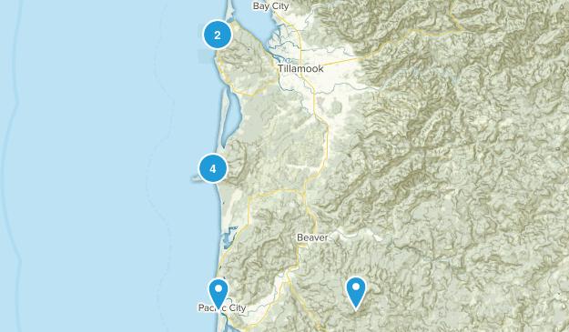 Coast hikes Map