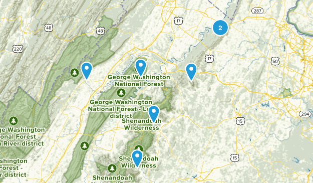 T&C Hikes Map