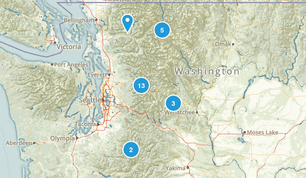 Cascade Mountains Map