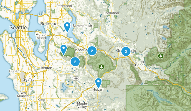 Weekday Hikes Map