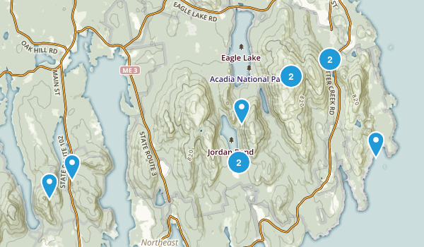 Acadia Easy Trails Map