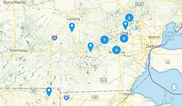 Local Training Hikes Map