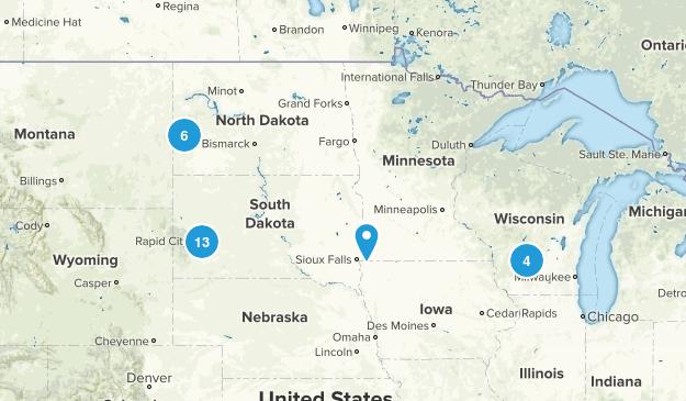 Dakotas Vacation 2017 Map