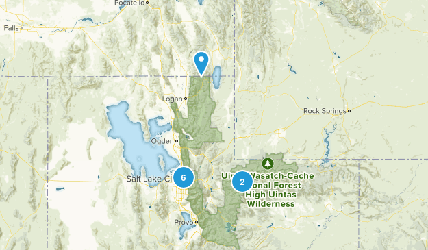 utah - wasatch/uintas Map