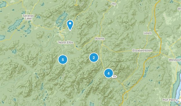 High Peaks To-hike Map