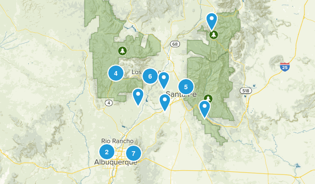 Albuquerque & Santa Fe, NM Map
