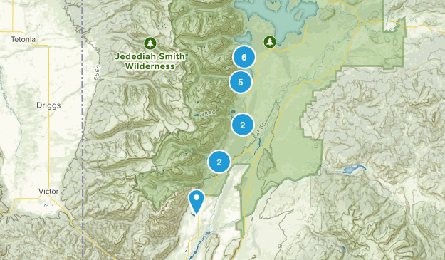 Teton National Park Map