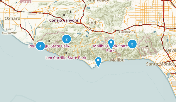 Malibu and Topanga  Map