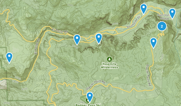 Easy-moderate Yosemite 6/11/17 Map