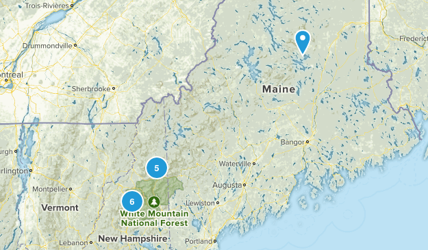 4,000 Footers Map