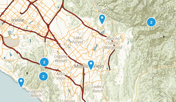 Under 5 Miles Map