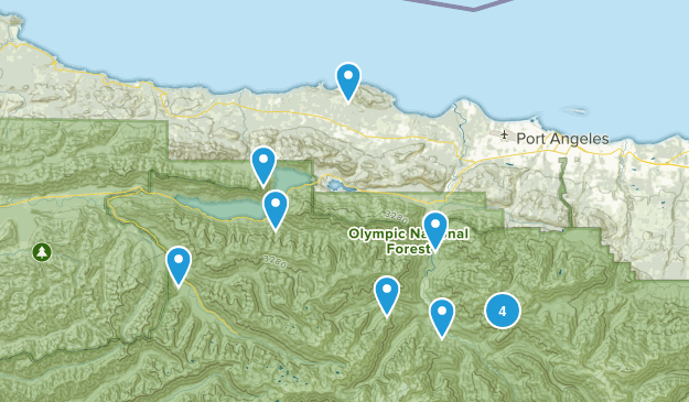 Port Angeles, WA Map