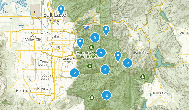 slc hikes Map