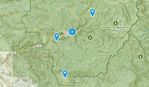 Yosemite Hikes Map