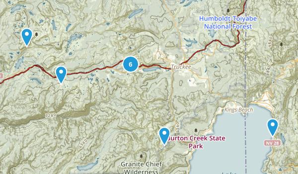 North Lake Tahoe Hikes Map