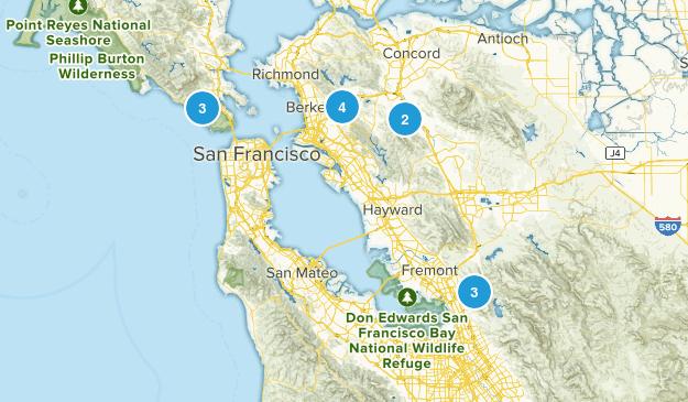 East bay long runs Map
